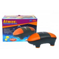 Atman PP-300 Супертихий компрессор для аквариума до 300 литров, 2*150 л/ч