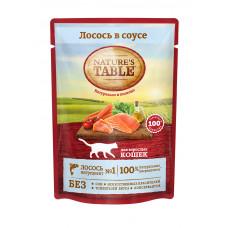 Nature's Table Корм консерв. для взрослых кошек с Лососем в соусе, 85 г