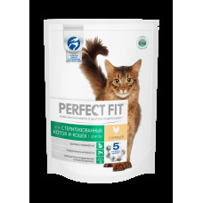Перфект Фит для кастрированных котов и стерилизованных кошек с курицей, 190 г