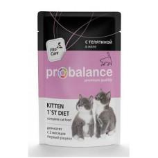 Пробаланс Корм для котят с телятиной в желе 85 г