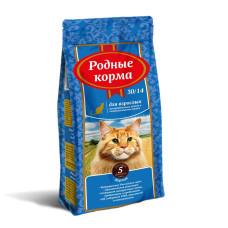 Родные корма Корм сухой для взрослых стерилизованных кошек, 30/14, 5 русских фунтов, 2,045 кг
