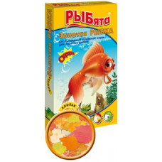 ЗООМИР РЫБята Золотая Рыбка Корм для золотых рыбок, хлопья 10 г