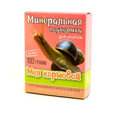 Аквакулинар Мел кормовой Минеральная подкормка для декоративных улиток, 100 г