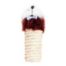 328 Сизалевая когтеточка цилиндр Мышка, 10 см