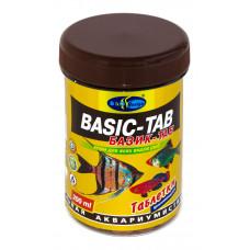 Биодизайн БАЗИК-ТАБ - таблетированный (d=12мм) корм для всех видов рыб (банка) 200 мл/120 г