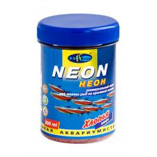 Биодизайн НЕОН - микро хлопья (flake), универсальный корм для мелких рыб (банка) 200 мл/80 г