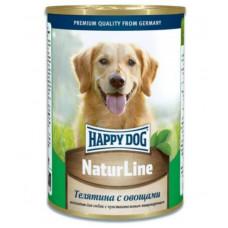 Хэппи Дог Корм для собак консервированный Телятина с овощами, ж/б, 400 г