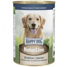 Хэппи Дог Корм для собак консервированный Ягненок с рисом, ж/б, 400 г