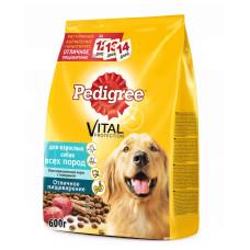 Педигри для взрослых собак всех пород с говядиной 600 г