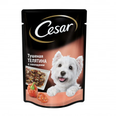 Цезарь Корм для собак консервированный Тушеная телятина с овощами 100 г