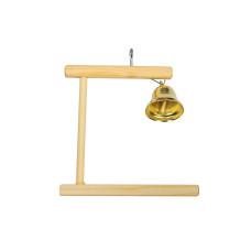 8540 Дарэлл Качели для попугая деревянные с колокольчиком 120*8*h110 мм.