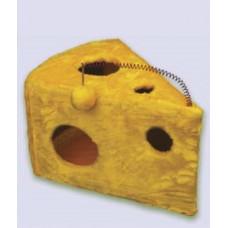 107 ZOOmark Когтеточка-домик Кусочек сыра, мех, 56*42*30 см