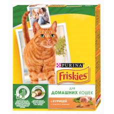 Фрискис Корм для домашних кошек с курицей и садовой травой 300 г