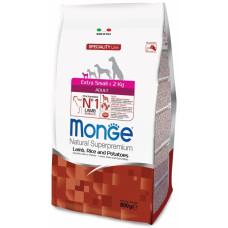 Monge Dog Speciality Extra Small корм для взрослых собак миниатюрных пород с ягненком 800 г