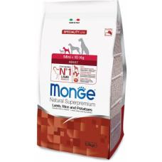 Monge Dog Speciality Mini корм для взрослых собак мелких пород с ягненком 2,5 кг