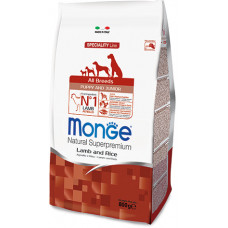 Monge Dog Speciality Mini корм для щенков мелких пород с ягненком, рисом и картофелем, 800 г