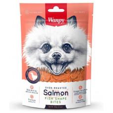 Wanpy Dog лакомство кусочки из нежного лосося в форме рыбок 100 г