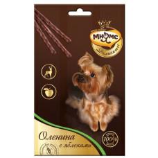 Мнямс Деликатес Лакомые палочки для собак с Олениной и яблоком, 3*11 г, 13,5 см
