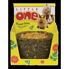 LITTLE ONE Лакомство-игрушка для грызунов Лукошко цветочное 140 г