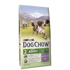 Дог Чау Корм сухой для собак старше 1 года с ягненком 2,5 кг
