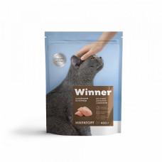 Winner сухой корм для домашних кошек с курицей 0,19 кг