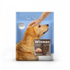 Winner сухой корм для взрослых собак крупных пород с курицей, 3 кг