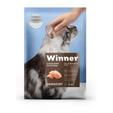 Winner сухой корм для стерилизованных кошек с курицей 0,4 кг
