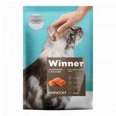 Winner сухой корм для стерилизованных кошек с лососем 0,4 кг