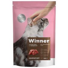 Winner сухой корм для стерилизованных кошек с говядиной 0,19 кг