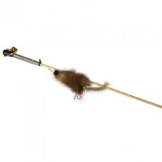 sh-07026 PETTO Махалка Мышка на веревке GoSi на картоне с еврослотом (мышка из натуральной норки)