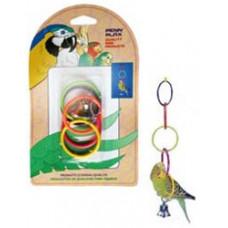 BA522 PENN-PLAX Игрушка для птиц Олимпийские кольца малые