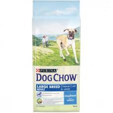 Дог Чау Корм сухой для  собак старше 2-х лет крупных пород с индейкой 14 кг