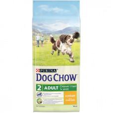 Дог Чау Корм сухой для собак старше 1 года с курицей 14 кг