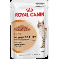 Роял Канин Интенс Бьюти в соусе влажный корм для поддержания красоты  шерсти кошек 85 г