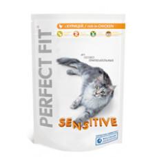 Перфект Фит для чувствительных и особо притязательных кошек с курицей 190 г