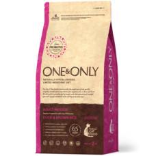 ONE&ONLY CAT Duck&Rice Indoor Корм гипоаллергенный сухой для кошек Утка с бурым рисом, 400 г