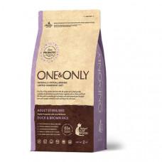 ONE&ONLY CAT Duck & Rice Adult Sterilized  Корм сухой для стерилизованных кошек, утка с рисом, 400 г