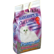 Пусси-кет наполнитель для туалетов комкующийся розовый 4,5 л