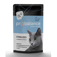 Пробаланс пауч для стерилизованных кошек/кастрир.котов 85 г
