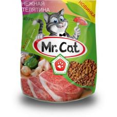 Mr. Cat Корм для кошек сухой Нежная телятина 400 г