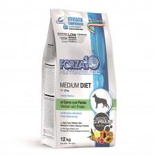 Forza10 MEDIUM DIET Корм для собак средних пород с олениной и картофелем,1,5 кг