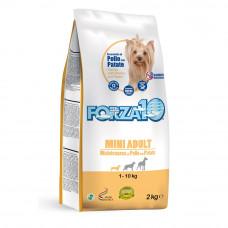 Forza10 Mini Adult Maintenance Корм сухой для собак мелких пород с курицей и картофелем,2 кг