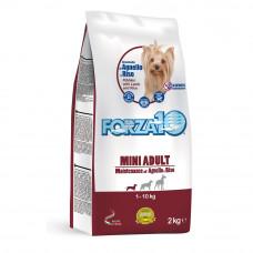 Forza10 Mini Adult Maintenance Корм сухой для собак мелких пород с ягненком и рисом,2 кг