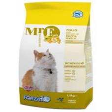 Forza10 MR. FRUIT NEUTERED Корм для стерилизованных кошек с курицей и жёлтыми фруктами, 1,5 кг