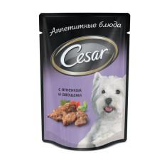 Цезарь Корм для собак консервированный Ягненок с овощами 100 г