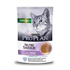 Про План Sterilised Корм для кошек старше 7 лет с индейкой паштет (пауч) 85 г