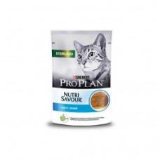 Про План Sterilised Корм для взрослых кошек с треской паштет (пауч) 85 г
