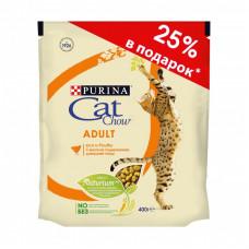Кэт Чау Корм для кошек с домашней птицей 300 г + 100 г в подарок
