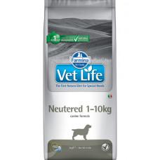 64045 FARMINA Vet Life Dog Neutered Корм сухой для кастрир и стерилизованных собак 1-10 кг, 2 кг