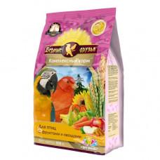 Верные друзья Стандарт Комплексный корм для птиц с фруктами и овощами, 500 г